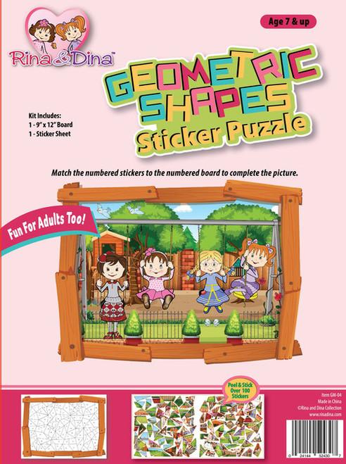 Rina Dina Geometric Sticker Puzzle Swing Set