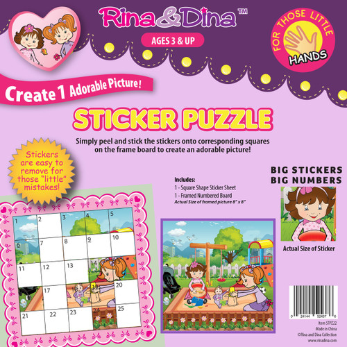 Rina Dina Little Hands Sticker Puzzle Sandbox