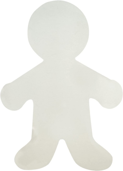"Big Person Cut-Outs White Paper 16""- 25 Pcs"