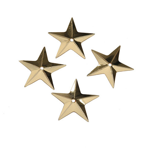 Sequin Gold Stars  .625""