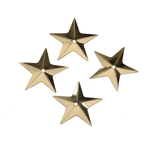 "Sequin Gold Stars  .625"""