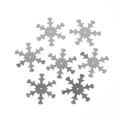 Sequin Silver Snowflakes