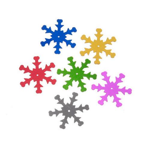 Sequin Snowflakes Multicolored