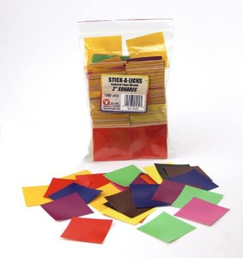 """Stick A Licks Squares 2""""-100 Pieces"""
