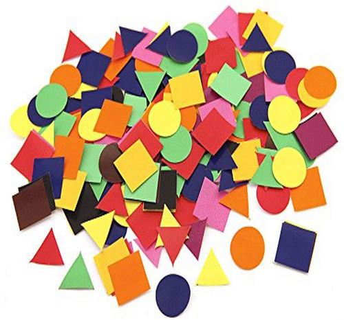"Stick A Licks Squares, Circles and Triangles 1""-500 Pieces"