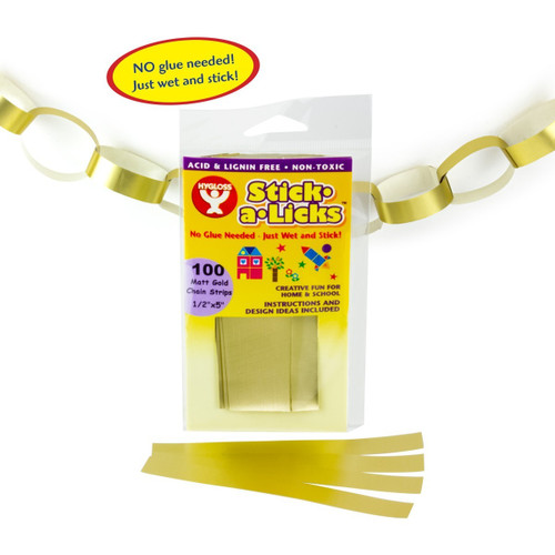 "Stick A Licks Gold Chain Strips 1/2"" x 5""-100 Pieces"