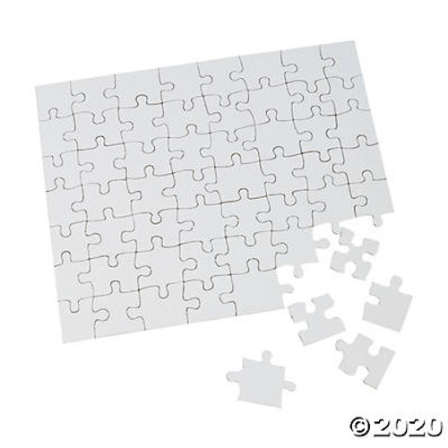 "Blank Cardboard Puzzles - 8"" x 10""-24 Puzzles/Pack"