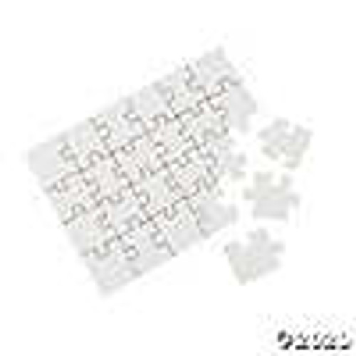 "Blank Cardboard Puzzle 5""x7""-24 Pieces/Pack"