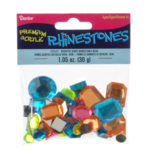 Acrylic Rhinestones Assorted Color, Size and Shape