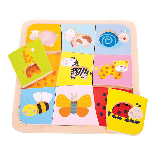 Wooden Animal Patterns Picture Puzzle
