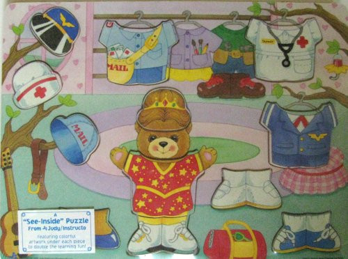See Inside Wooden Puzzle Tammy Bear Dress for Wor