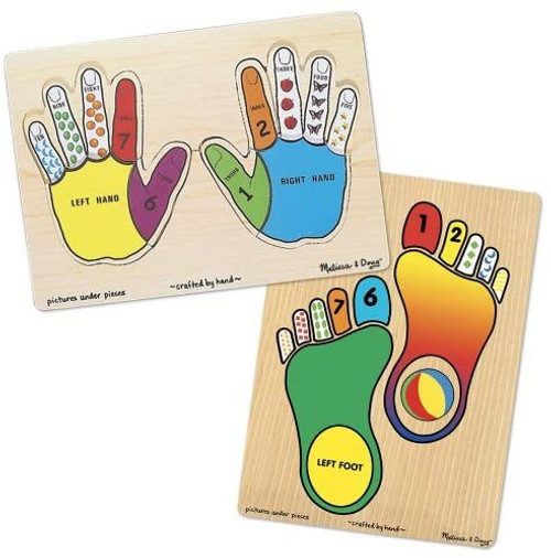 Hands & Feet Wooden Puzzle Set