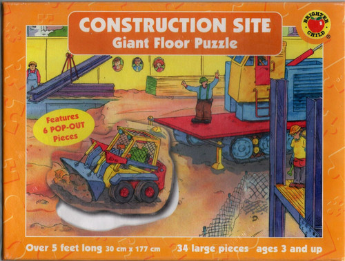 Construction Site Giant Floor Puzzle