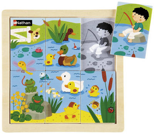 At the Pond Small Wooden Table Puzzle