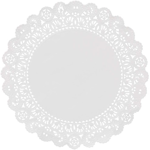 "Round White Paper Lace Doilies 10""-36 Pieces"