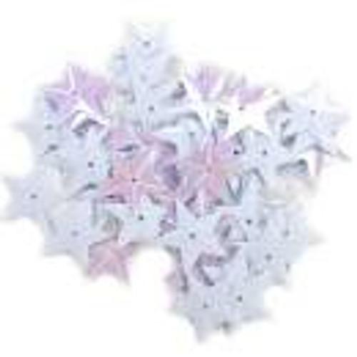 Sequin Stars White Iris 50/Pack