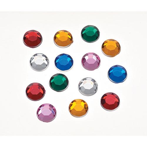 Acrylic Rhinestones Assorted Colors Round - 7mm