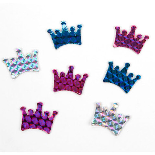 Chipboard Crown Hologram Stickers