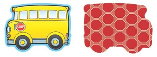 School Buses Mini Colorful Cut-Outs