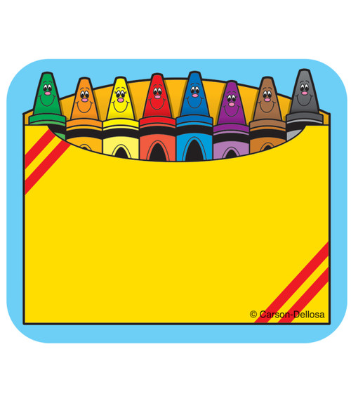 Crayon Box Name Tags