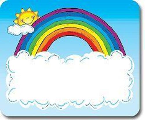 Sun 'n Rainbow Nametags Stickers