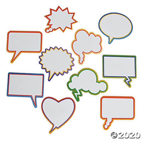 Coated Paper Dry Erase Conversation Bubble Magnets