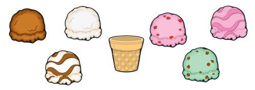 Ice Cream & Cones Cut-Outs