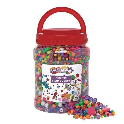 Assorted Bead Bucket 2.5lb-3500 Beads