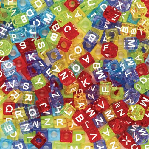 Colored ABC Beads - 300 Pieces