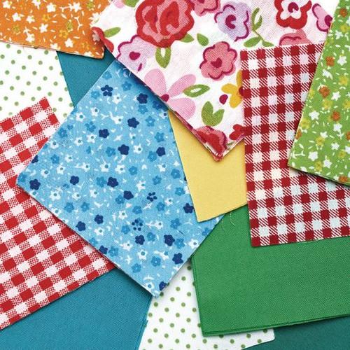 Fabric Squares - 150 Pieces