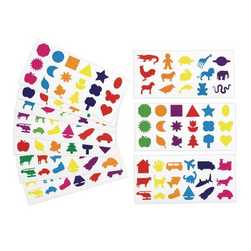Familiar Shapes Stickers - 60 Sheets