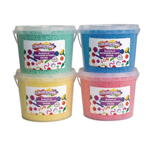 Incredible Foam Dough Buckets - Set of 4