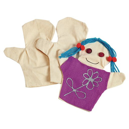 Canvas Person Puppets - Set of 12