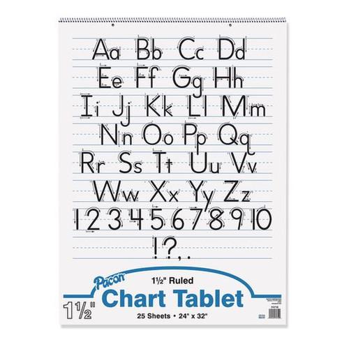"Chart Tablet 24""x32"" Ruled 1 1/2"" Short Way- 25 Sheets"
