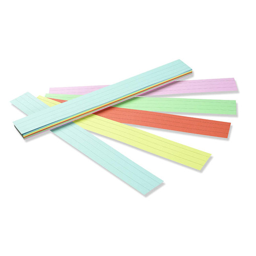 Sentence Strips Pastel Tagboard Assortment Ruled -100 Sheets