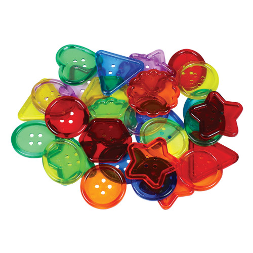 See Through Big Buttons-30/Pack
