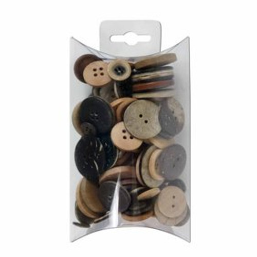 Assorted Natural Colored Buttons