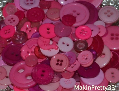 Pink Buttons Assorted