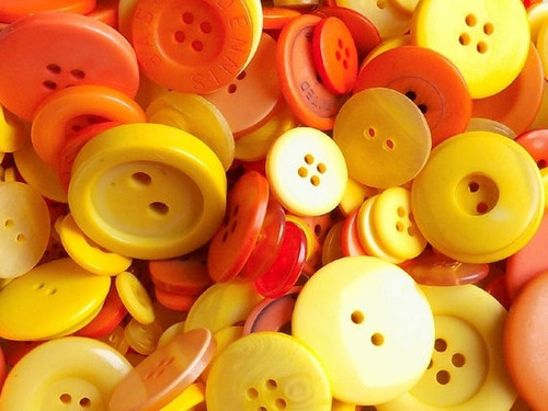 Orange and Yellow Button Assortment