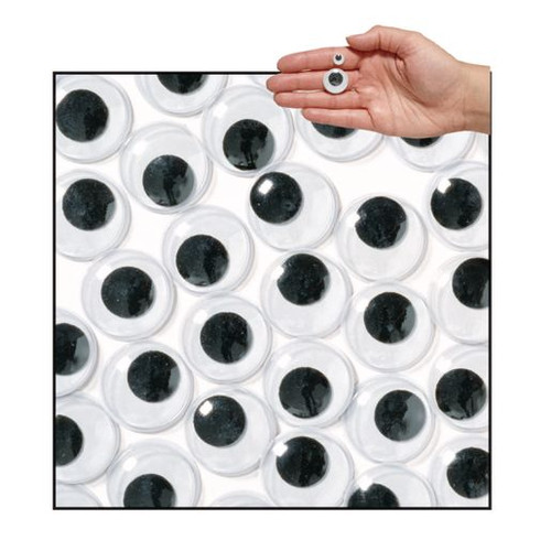 Jumbo Wiggly Eyes Black 22mm - 100 Pieces