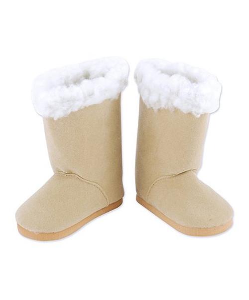 Tan Sherpa Trim Doll Boots