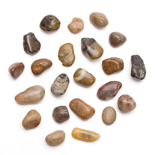 Smooth Natural Color Pebbles- 28 ounces