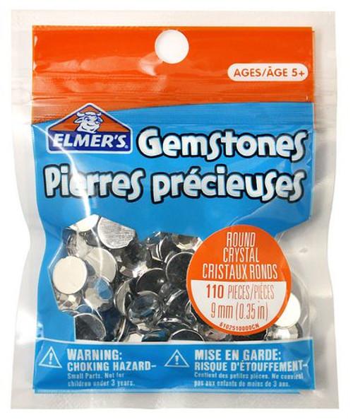 Gemstones Round Crystal Clear 9mm-135 Pieces
