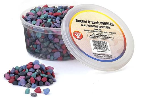 Gravel/Pebbles in a Bucket Rainbow Frost