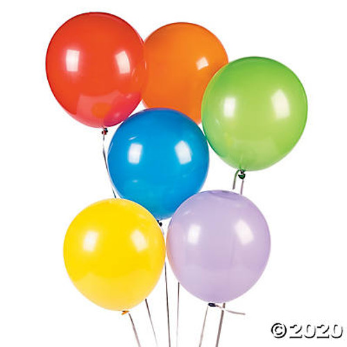 "9"" Assorted Color Latex Balloons-48 Pieces"