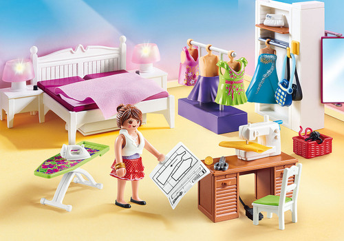 Playmobil Bedroom with Sewing Corner