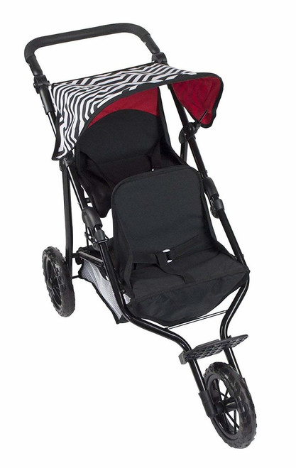 Deluxe Double Jogger Doll Twin Stroller