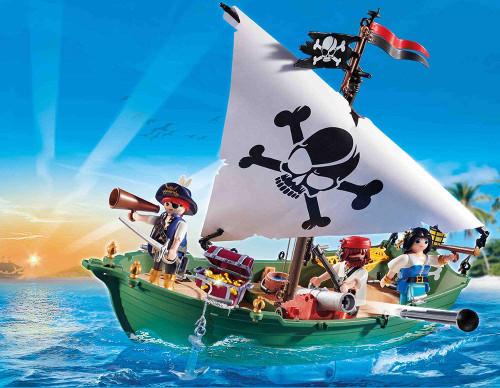 Playmobil Pirate Ship with Underwater Motor