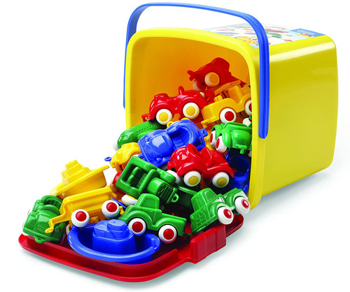 Mini Chubbie Cars in Storage Bucket-30 Pieces
