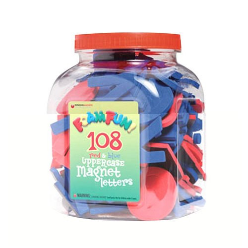 Foam Magnetic Uppercase Red & Blue Letters-108 Pieces